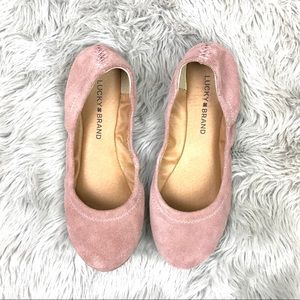 Lucky Brand Suede Pink Flats 7